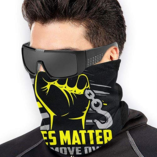 NA Tow Lives Matter Move Over Slow Down Unisex multifuncional calentador de cuello bufanda para actividades al aire libre, trabajo, deporte, esquí, snowboard, bicicleta bucle bufanda