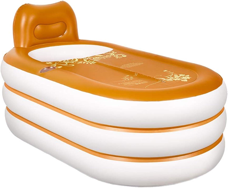 HAIYING Badewanne, Schwimmbadbadewanne, Aufblasbares Faltbares Tragbares Plastikbadekurort, Jacuzzi, Husliche Badewanne, 152  85  75cm (Farbe   A)