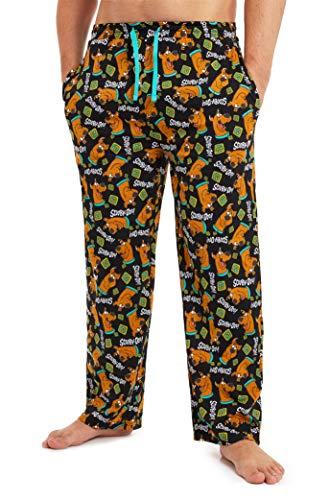 Scooby Doo Freizeithose Herren, Pyjamahose Herren Lang 100{a0bf459e4cd677a4d05a14fd460f7718f0349e48d5060257aeb92c1bc01b40ce} Baumwolle, Schlafanzug Hose Herren mit Scooby, Lang Hausanzug Teenager Jungen, Geschenke für Männer (M)