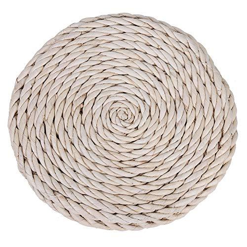 Tatami Cojín tejido de paja para asiento de yoga, cojín de suelo, para decoración de jardín, comedor, 40 cm