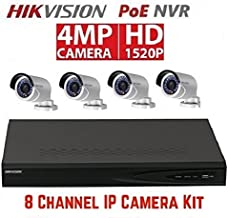 HikvisIon DS-7608NI-E2/8P 8CH POE NVR with 2TB HDD & 4 DS-2CD2042WD-I 4.0mm 4MP POE Bullet Camera Kit