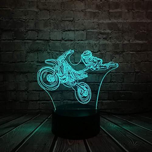3D Luz De Noche Led LED Luces nocturnas Pentium motorcycle regalo de cumpleaños para jóvenes, niñas Con interfaz USB, cambio de color colorido