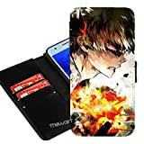 Case for Galaxy J7 (2018), J7 Refine, J7 Star,J7 Crown,J7 Aura,J7 V J7V 2nd Gen,J7 Aero,J7 Top,J7 Eon,J737V,J737T, My Hero Academia Anime Manga PU Leather Wallet + Thewart8 Stylus Pen (#09)
