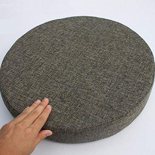 DSDD Round Outdoor Flax Non-Slip Seat Cushion, Removable Washable Chair Cushion Relief Sciatica for Office Home Car Tatami Cushion-M-45x45x5Cm