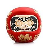 ZAAQ I Regali Ornamenti Decorazione per la Casa Bambola Daruma in Ceramica Giapponese da 4 Pollici Charm Portafortuna Fengshui Zen Artigianato Regali salvadanaio
