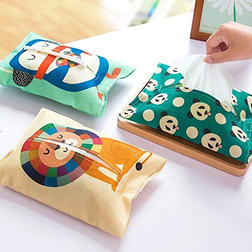 Yeshai3369 Animal Print Tissue Box Toalla De Papel Servilletero Servilletero Dispensador Bolsa Bolsa BúhoNone
