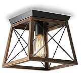 ENCOFT Iluminación de Techo de Interior Industrial, Lámpara de Techo en Metal E27 Base Max 40W, para Dormitorio Sala de...