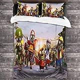 Plants vs. Zombies - Juego de ropa de cama (3 piezas, 135 x 200 cm), diseño de Plants vs. Zombies