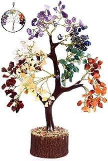 KACHVI Chakra Crystal Tree Natural Tumbled Stones Tree Crystals and Gemstones Healing Bonsai Tree Ornaments Living Room Tr...