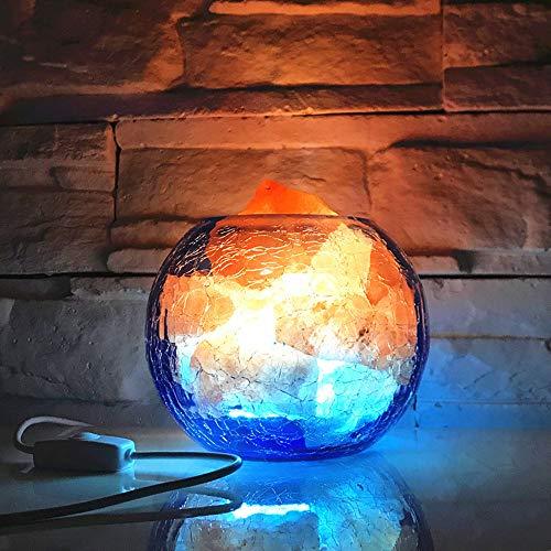 XFUNY Saltlamp Himalayan Salt Lamp Natural Shape with Glass Cup