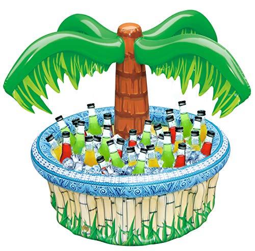 71 cm uppblåsbar palmträd kylare, strand tema party inredning, festtillbehör för poolfest, luau party och Hawaiian party