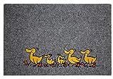 Bavaria-Home-Style-Collection Flocky Motiv Fussmatte - Fußmatte - Teppich - Sauberlaufmatte - Fußabstreifer - Türmatte - Fußmatte - Schmutzfangmatte - Verschiedene Designs - Größe 40 x 60 cm (Enten)
