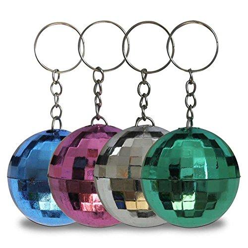 HC-Handel 12 x 910514 Schlüsselanhänger Discokugel 4 cm Verschiedene Farben