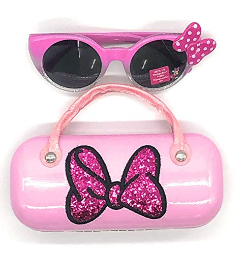Minnie Mouse Girls Sunglasses & Hard shell Carrying Case Set - 100% UV
