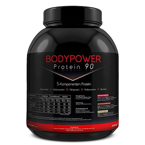 Body Power Protein 90 2kg Dose 5K Mehrkomponenten Eiweiß 2000g (Schoko)