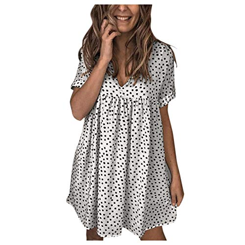 AMhomely Women's Sexy Off Shoulder Ruffles Multiple Dressing Layered Plus Size Mini Dress Party Dresses for Women Size 25 Women Dresses Clearance Women Dresses Party Elegant White