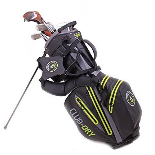PINCUP Golf-Bag 6 Lime Star Grey- wasserdichte Golftasche drybag für Herren Damen- Trolley-Bag Wasserfeste Tasche Clubdry Waterproof Golfzubehör Golfausrüstung Cartbag Carrybag Golf-Schlägertasche