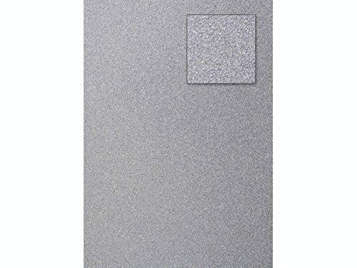 papieto Glitterkarton/Spezialpapier Glitter Effekt (32 Farben / A4-21,0 x 29,7 cm - 200 g/m2-1 Blatt) Farbe FREI WÄHLBAR (Silber)