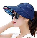 FDSHIP Wide Brim Sun Hats Summer Beach Visor Cap Anti-UV Sunhat for Women
