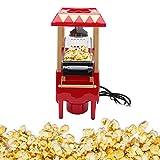 Máquina de palomitas de maíz, máquina de palomitas de maíz compacta retro, máquina automática para hacer palomitas de maíz, portátil para cumpleaños, hogar, Navidad, regalo para fiesta(pink)