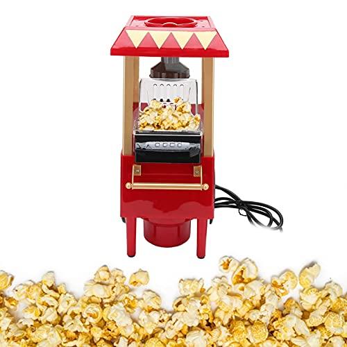 Chanme Carrello per Popcorn Professionale, Macchina per Popcorn Vintage Automatica Modello retrò, Mini Macchina per Popcorn Fatta in casa Fai-da-Te Fai-da-Te Stile Cinema per Il Compleanno di(Pink)