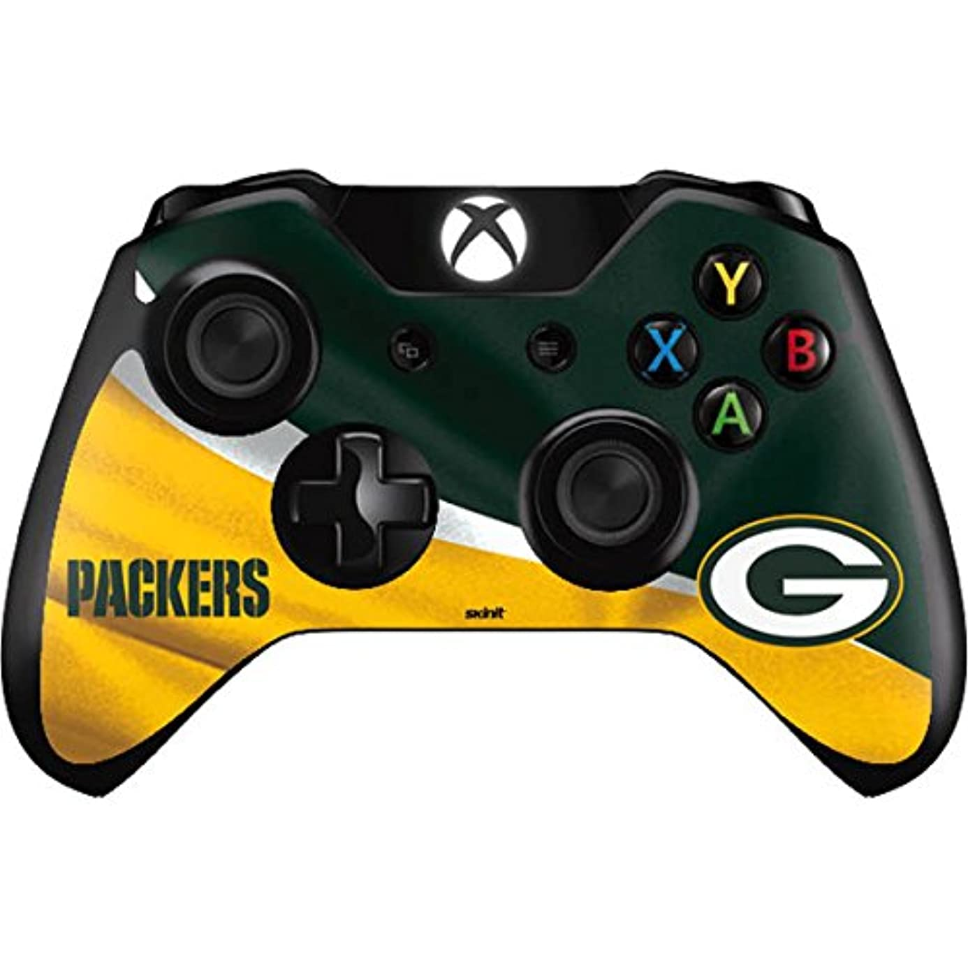 Skinit Green Bay Packers Xbox One Controller Skin - Officially Licensed NFL Gaming Decal - Ultra Thin, Lightweight Vinyl Decal Protection