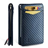 Zitahli Wallet for Men-Slim Bifold Front Pocket Wallets with Money Clip for men,Effective RFID Blocking