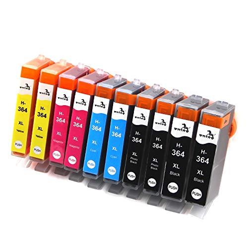 ONINO 10-Pack 364XL Compatible pour Cartouches 364 Travailler pour Deskjet 3070A 3520 Officejet 4620 4622 Photosmart 5510 5524 5525 6510 6520 7520 7515 B8550 C5380