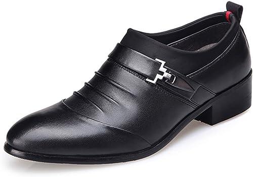 Z.L.F Herren Oxford Schuhe Matte PU Leder Splice Obermaterial Slip-on Atmungsaktiv Gefüttert Formelle Schuhe (Farbe   Schwarz Größe   9.5MUS)