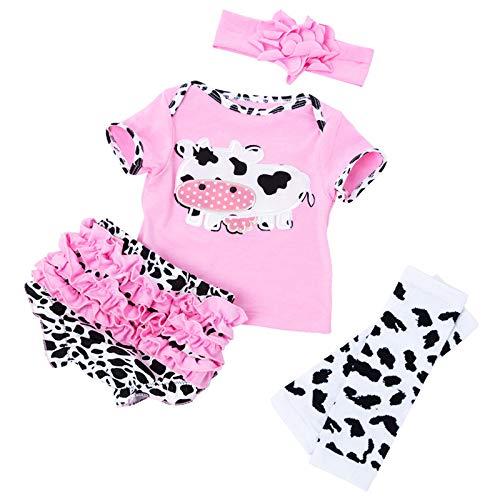 LLX Mode Neugeborenes Baby Kleidung Reborn Baby Mädchen Puppe Kleidung Für 20-22 Zoll 50-55 cm Puppe Kinder,Pink
