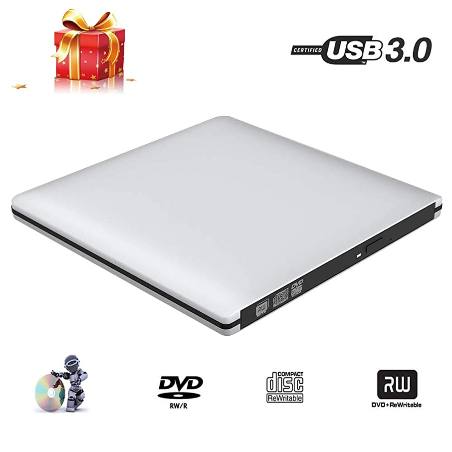 External DVD CD Drive for Laptop PC,LinGear USB DVD CD Drive USB 3.0 Portable Updated Version (24X) DVD +/-RW Super Slim Lighter and Thinner Support Windows XP/2003/7/8/8.1/10, Vista, Linux,Mac10 OS