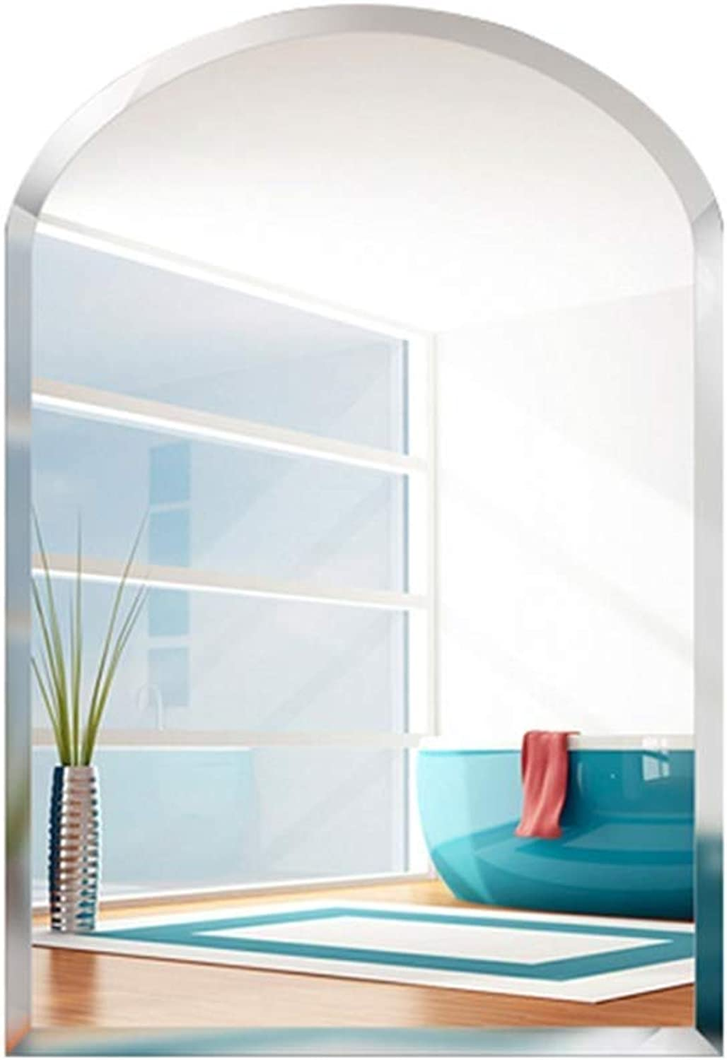 SDK 4 mm thick frameless mirror explosion-proof beveled - wall mount - HD vanity mirror (four (Size   40  50cm)
