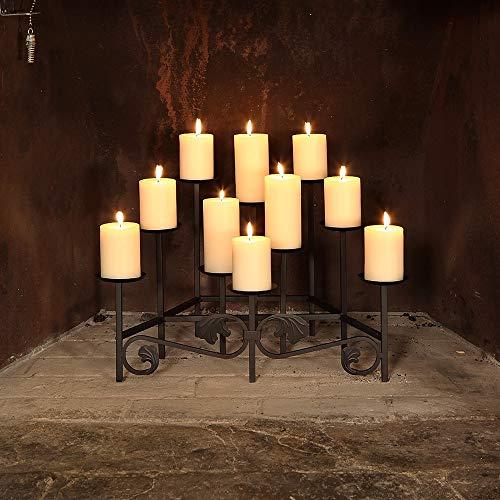 Minuteman International Candle Holder, Decorative Candelabra, Black