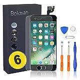 bokman Schermo Display LCD per iPhone 6 Nero Sostituzione dello Schermo con Pulsante Home, Fotocamera, Sensore Flex e Strumenti di Riparazione