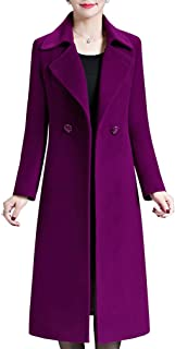 Women's Elegant Solid Color Mid-Length Thicken Warm Wool Blend Coat