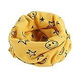 BlueSterCool Otoño invierno bebé pañuelos Niños Niñas collar del bebé bufanda de algodón Cuello redondo Bufandas (Amarillo)