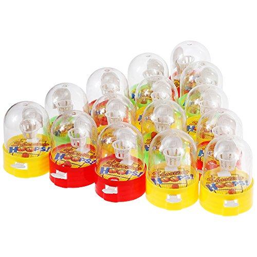 GOLDGE 15 PCS Mini Basketball, Flipper Basketball,Mini Finger Schießspielzeug,Desktop-Kinderspielzeug,Kleines Spielzeug Korbwurf,Mitgebsel