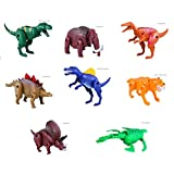 HKJCstore 8PCS Children Assembled Deformation Dinosaur Egg boy Toy Pentaceratops Dinosaur Egg