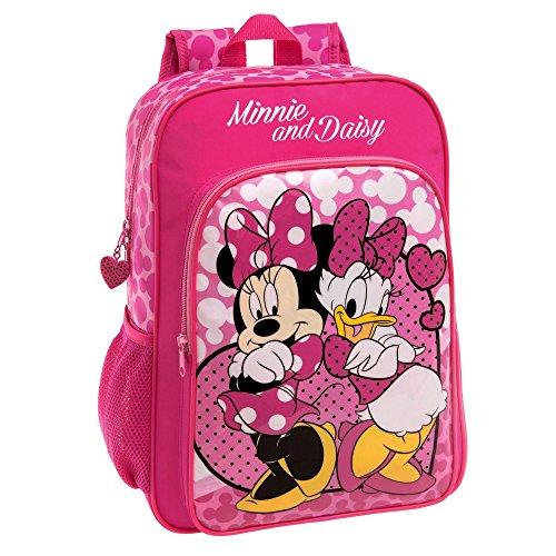 Disney Minnie et Daisy Nice Day Set de Sac Scolaire, 40 cm, 15.6 L, Rose