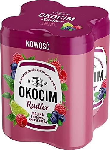 GroßhandelPL Bier Okocim Radler mit Himbeer- und Blaubeerlimonade 6er Pack x 4 Dose (24x 500ml)