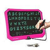 jrd&bs winl giocattolo per scrivere da 17 pollici per ragazzi dai 3-12 anni,tavolo da disegno elettronico per bambini,riutilizzabile,lavagna per graffiti con grafia per bambini (rosa)