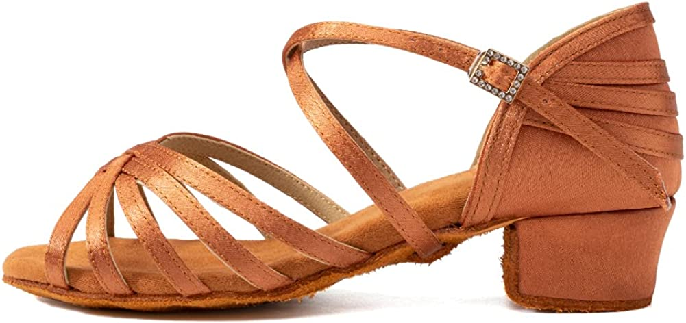 JUODVMP Today's only Latin Dance Shoes for Little Ba Girls Max 49% OFF Satin Professional