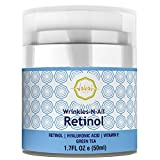 Wrinkles-N-All Retinol Moisturizer Cream For Men & Women By Wakai Skin | Anti Aging Facial Moisturizing Cream With Hyaluronic Acid, Green Tea & Vitamin E | Soothing & Firming Hydration | 50ml