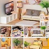 Gpzj Fiaoen DIY Holzpuppenhaus Kits - Light Time - Puppenhaus Miniatur Idee Geschenke für...
