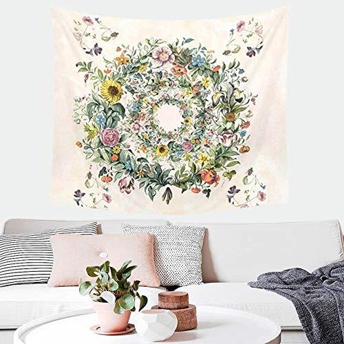 Tapiz floral bohemio decoración de la pared arte hippie tapiz psicodélico bohemio colgante de pared decoración de la habitación A27 180x230cm
