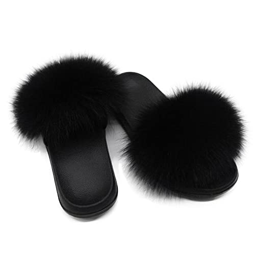 lowest price best sneakers free shipping Real Fur Slippers: Amazon.com