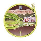 Cuckoo Garden Hose No Kink 5/8 in. x 15ft,Green Water Hose/No Leaking/Heavy Duty/Light Weight,Environmental-Friendly