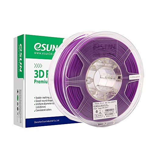 eSUN PLA+ Filament 2.85mm, PLA Plus 3D Printer Filament, Dimensional Accuracy +/- 0.03mm, 1KG (2.2 LBS) Spool 3D Printing Filament for 3D Printers, Purple