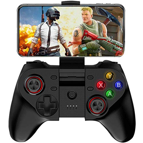 HXwsa IOS-controller, USB wireless pc-gamecontroller gamepad bluetooth controller met bedieningsknoppen rumbble vibratie voor PC Windows (Windows XP / 7/8/10) & Android smartphone/tablet/tv-box & PS3