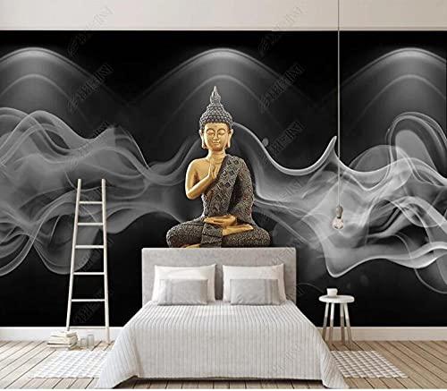 Papel tapiz fotográfico personalizado 3D Zen Budismo Fondo pared mural de pared papel tapiz para sala de estar TV sofá dormitorio mural-350 * 245cm